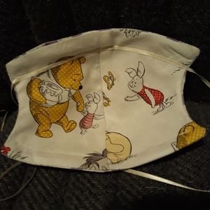 Reversible,  face mask, Winnie  The Pooh design